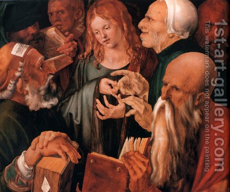 Christ Among The Doctors by Albrecht Durer - Reproduction Oil Painting