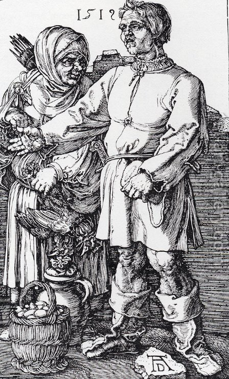 The Peasant And His Wife At Market by Albrecht Durer - Reproduction Oil Painting