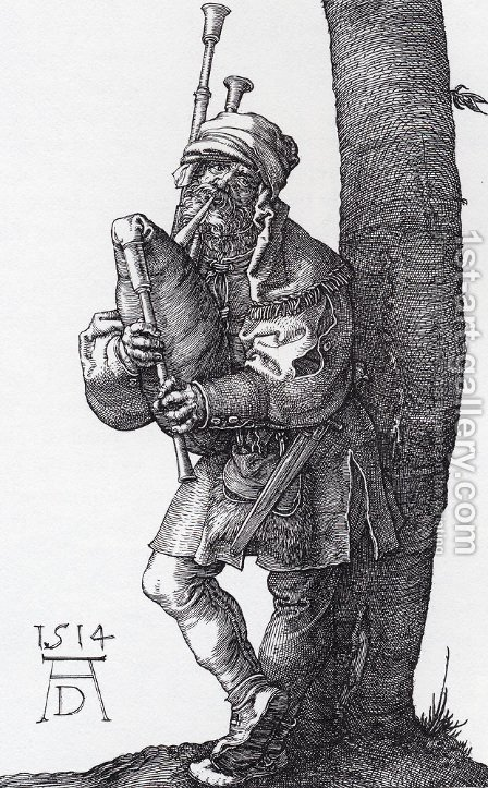 The Bagpiper by Albrecht Durer - Reproduction Oil Painting