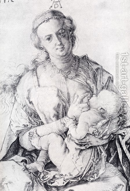 The Virgin Nursing The Child by Albrecht Durer - Reproduction Oil Painting