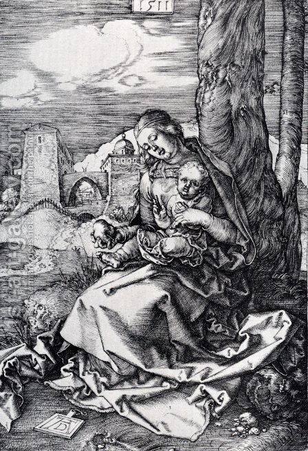 Madonna With The Pear by Albrecht Durer - Reproduction Oil Painting