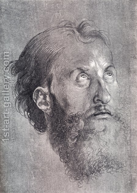 Head Of An Apostle Looking Upward by Albrecht Durer - Reproduction Oil Painting