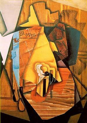Reproduction oil paintings - Juan Gris - A Man In A Cafe