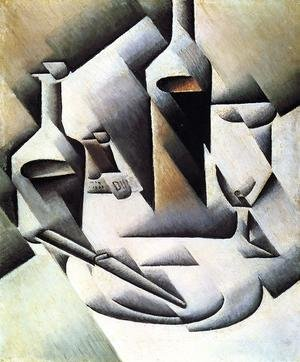 Reproduction oil paintings - Juan Gris - Bottles And Knife