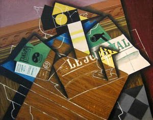 Reproduction oil paintings - Juan Gris - Fantomas   Pipe And Newspaper