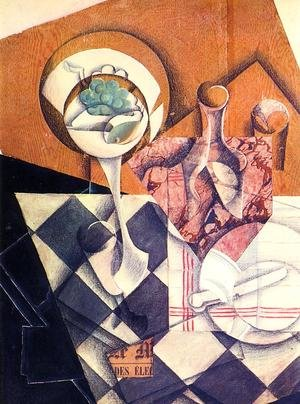 Reproduction oil paintings - Juan Gris - Fruit Dish And Carafe