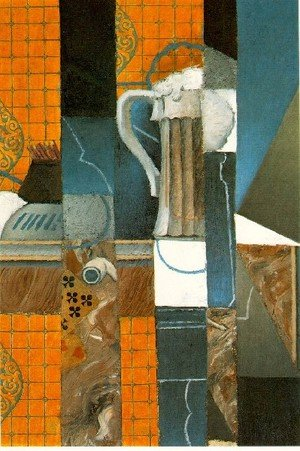 Reproduction oil paintings - Juan Gris - Glass Of Beer And Playing Cards