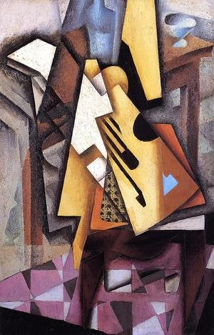 Reproduction oil paintings - Juan Gris - Guitar On A Chair
