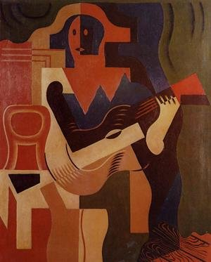 Reproduction oil paintings - Juan Gris - Harlequin With Guitar