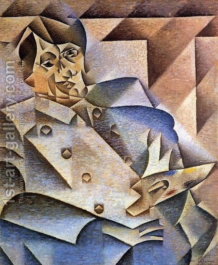 Juan Gris: Portrait of Pablo Picasso 1912 - reproduction oil painting