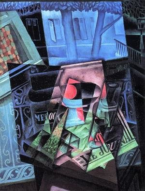 Reproduction oil paintings - Juan Gris - Still Life Before An Open Window Place Ravignan