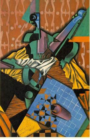 Reproduction oil paintings - Juan Gris - Violin And Checkerboard