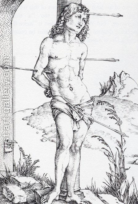St Sebastian At The Column   First State by Albrecht Durer - Reproduction Oil Painting