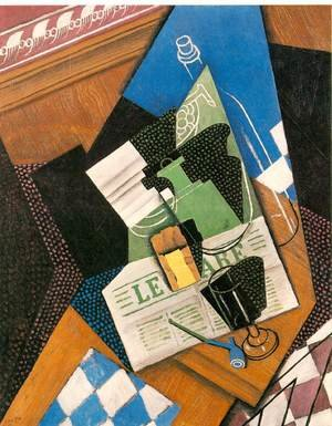 Reproduction oil paintings - Juan Gris - Water Bottle Bottle And Fruit Dish