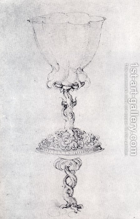 Design For A Goblet  With A Variant Of The Base by Albrecht Durer - Reproduction Oil Painting