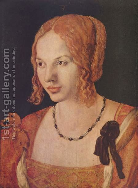 Portrait Of A Young Venetian Woman by Albrecht Durer - Reproduction Oil Painting