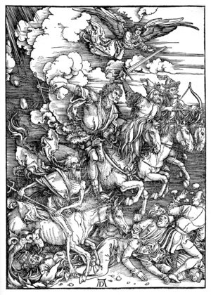 Reproduction oil paintings - Albrecht Durer - The Four Horsemen Of The Apocalypse