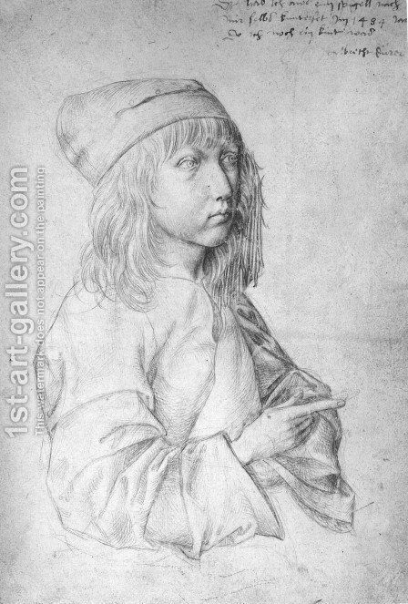 Self Portrait At 13 by Albrecht Durer - Reproduction Oil Painting