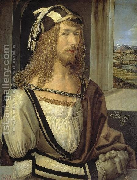 Self Portrait At 26 by Albrecht Durer - Reproduction Oil Painting