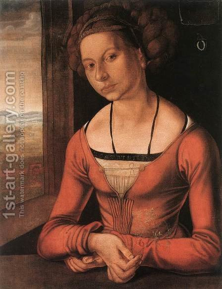 Portrait Of A Young Furleger With Her Hair Done Up by Albrecht Durer - Reproduction Oil Painting