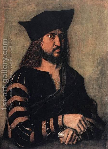 Portrait Of Elector Frederick The Wise Of Saxony by Albrecht Durer - Reproduction Oil Painting