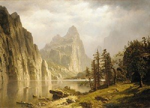 Reproduction oil paintings - Albert Bierstadt - Merced River  Yosemite Valley
