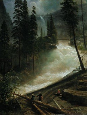 Reproduction oil paintings - Albert Bierstadt - Nevada Falls  Yosemite