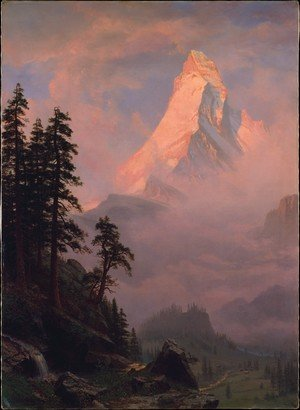 Reproduction oil paintings - Albert Bierstadt - Sunrise On The Matterhorn