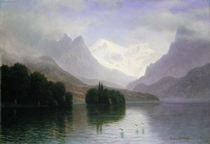 Reproduction oil paintings - Albert Bierstadt - Mountain Scene