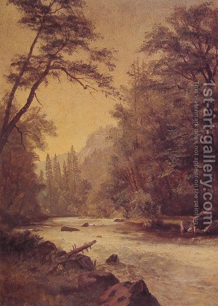 Lower Yosemite Valley by Albert Bierstadt - Reproduction Oil Painting