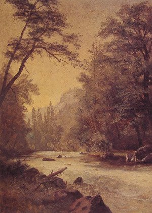 Reproduction oil paintings - Albert Bierstadt - Lower Yosemite Valley