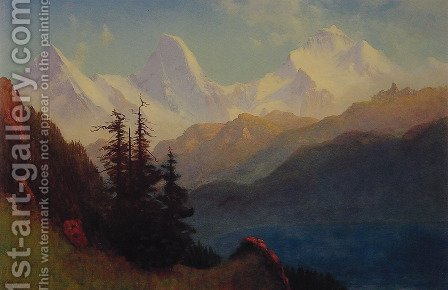 Splendour Of The Grand Tetons by Albert Bierstadt - Reproduction Oil Painting