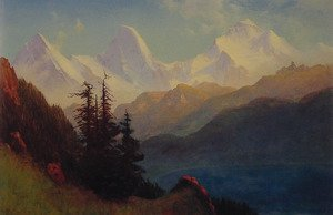 Reproduction oil paintings - Albert Bierstadt - Splendour Of The Grand Tetons