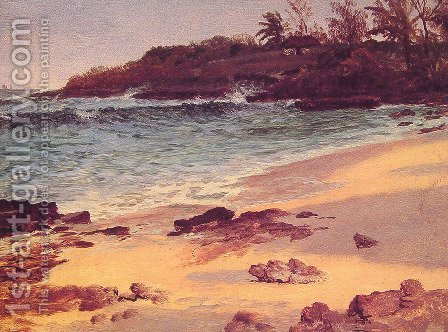 Bahama Cove by Albert Bierstadt - Reproduction Oil Painting