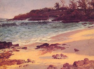 Reproduction oil paintings - Albert Bierstadt - Bahama Cove