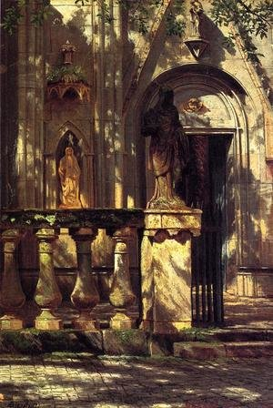 Reproduction oil paintings - Albert Bierstadt - Sunlight And Shadow2