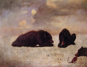 Reproduction oil paintings - Albert Bierstadt - Grizzly Bears