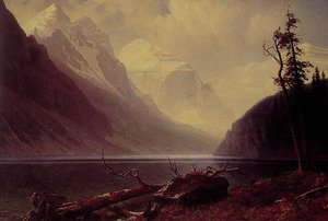 Reproduction oil paintings - Albert Bierstadt - Lake Louise