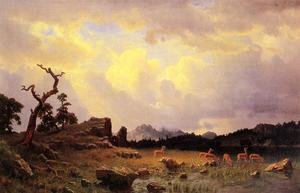 Reproduction oil paintings - Albert Bierstadt - Thunderstorm In The Rocky Mountains