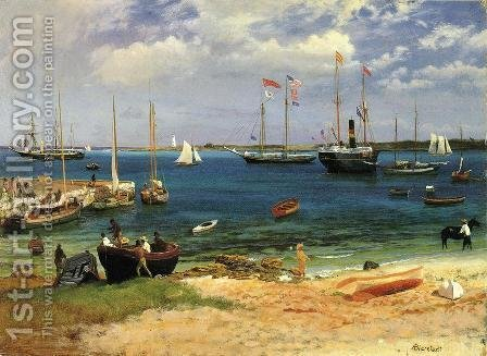 Nassau Harbor by Albert Bierstadt - Reproduction Oil Painting