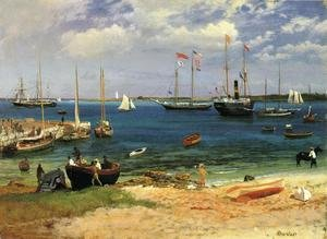Reproduction oil paintings - Albert Bierstadt - Nassau Harbor