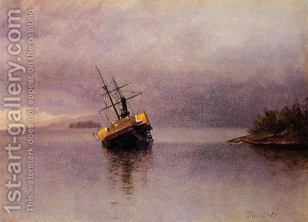 Wreck Of The Ancon In Loring Bay Alaska by Albert Bierstadt - Reproduction Oil Painting