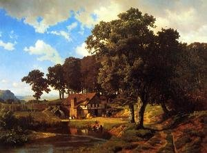 Reproduction oil paintings - Albert Bierstadt - A Rustic Mill