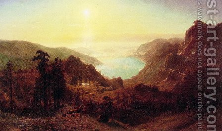 Donner Lake From The Summit by Albert Bierstadt - Reproduction Oil Painting