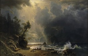 Albert Bierstadt reproductions - Puget Sound On The Pacific Coast