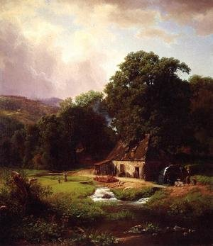 Reproduction oil paintings - Albert Bierstadt - The Old Mill