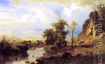 North Fork Of The Platte Nebraska by Albert Bierstadt - Reproduction Oil Painting