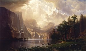 Famous paintings of Landscapes: Among The Sierra Nevada Mountains  California