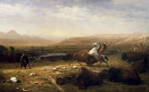 Reproduction oil paintings - Albert Bierstadt - The Last Of The Buffalo