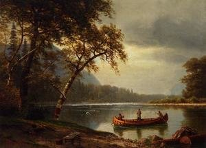 Famous paintings of Ships & Boats: Salmon Fishing On The Cascapediac River